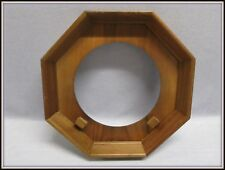 VINTAGE WOODEN OCTAGON SHADOW BOX COLLECTOR PLATE FRAME