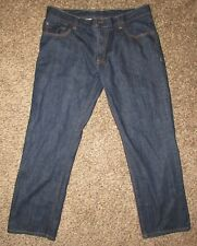 JCP J.C. Penny Men's Size 38 x 30 Relaxed Fit Dark Blue Jeans Excellent