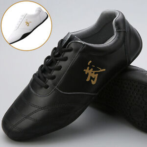 Leather Martial Arts Shoes Kung Fu Tai Chi Shoes Sneakers Wushu Sport Footwear 武