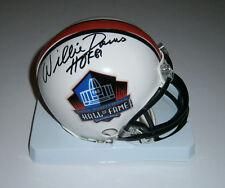 PACKERS Willie Davis signed HOF mini helmet w/ HOF81 JSA COA AUTO Autographed