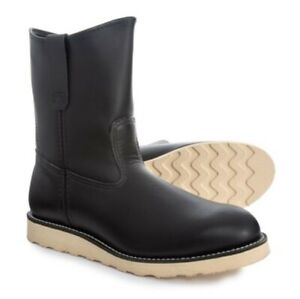 Red Wing Heritage 8169 Pecos Black Chrome Classic Western Pull On Men's 6 US New