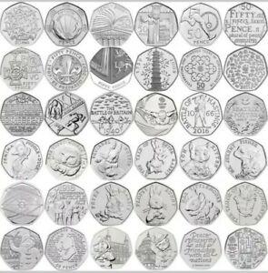 Commemorative 50p Coins Rare Beatrix Potter Olympics Newton Team GB WWF NHS EU