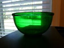 Green Glass Decorative Bowl