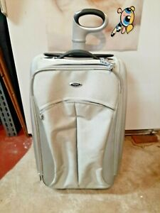 """Tumi T3 6443ALU Carry-On Suitcase Roller Bag Expandable Transporter Silver 22"""""""