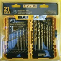 NEW DEWALT DW1361 Titanium Drill Bit Set