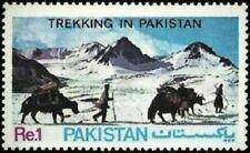 Pakistan Stamps 1983 Trekking in Pakistan Yak Safari Crossing in the Hindu Kush