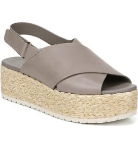 $295 - Vince Jesson Espadrille Slingback Lightwood Smoke Sandals Size 9.5