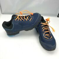 Specialized Cadet Blue and Orange Athletic Flat Cycling Shoes Mens Size 8