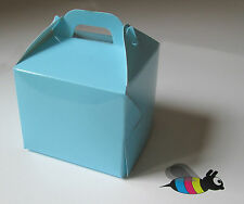 30 Individual Cupcake / Muffin Boxes  80 x 80 x 80mm *** BLUE ***