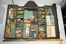 Vintage Large Kennedy Fishing Tackle Box Packed Full Of Lures/Baits, Reel