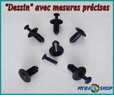 10x CLIPS AGRAFE PLASTIQUE DOUBLURE D'AILE RIVET MERCEDES BENZ W210, W211, W203