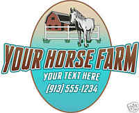 """Personalized Horse Ranch Equestrian Trailer Decal 24"""""""