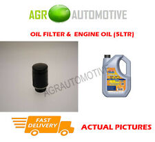 PETROL OIL FILTER + LL 5W30 ENGINE OIL FOR AUDI A1 1.4 122 BHP 2010-10