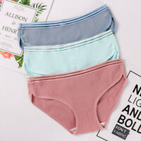 3Pcs Women Cotton Briefs Panties Underpants Seamless Soft Underwear Knickers New