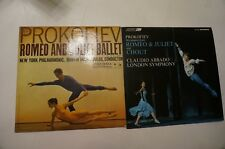 LOT OF 2 PROKOFIEV Romeo and Juliet Ballet, Mitropoulos COLUMBIA 6-EYE LP NM + 1