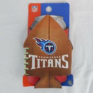 NFL Football Beer Can Pigskin Holder Tennessee Titans Neoprene Cooler Looks Real