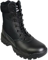 SavageOps Army Patrol Tactical Combat Boots Security Military Black Leather 925