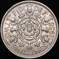 1958 | Elizabeth II Two Shillings | Cupro-Nickel | Coins | KM Coins