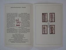 (89j29) DDR Erinnerungsblatt 1989 ESST handgestempelt Mi.Nr. 3285-3288 Roland