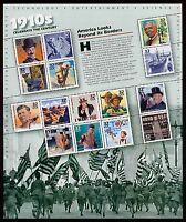 #3183 32c Celebrate the Century: 1910s, Souvenir Sheet, Mint