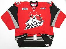 MISSISSAUGA ICEDOGS OHL AUTHENTIC RED PRO CCM HOCKEY JERSEY SIZE 54