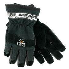 Glove Crafters: Fire Armor Structural Firefighting, Gauntlet, Black, Size Medium