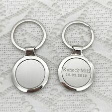 Runder Personalisierter Schlüsselanhänger mit Gravur Ihrem Logo, Text oder Bild