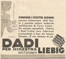 W4463 Dadi LIEBIG - Perfino i Vostri nonni... - Pubblicità del 1931 - Vintage ad