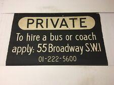 """London Linen Bus Blind 33""""- Private Bus / Coach Hire 55 Broadway SW1"""
