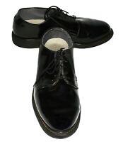 Bates Black High Gloss Military Uniform Dress Vibram Sole Mens Oxfords Sz 9.5 3E