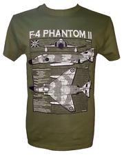McDonnell Douglas F-4 Phantom II RAF/USAF Aircraft T Shirt Blueprint Design.