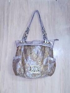 Kathy Van Zeeland Lavendar & Gold Floral Shoulder Bag