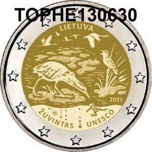 "LITUANIE COMMÉMORATIVE 2021 "" ZUVINTAS "" 2 EURO NEUVE-UNC"