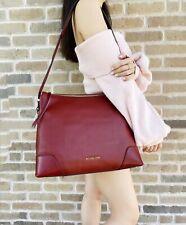 Michael Kors Crosby Hobo Tote Messenger Handbag Brandy Red Leather