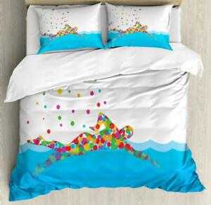 Olympics Duvet Cover Set Twin Queen King Sizes with Pillow Shams