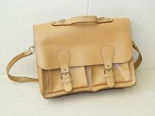 beautiful old Portfolio case Backpack Bag Office Shoulder bag vintage Leather