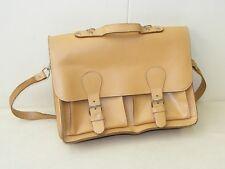 schöne alte Aktentasche Ranzen Tasche Büro Umhängetasche vintage Leder