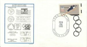USA Olympic Games Lake Placid 1980 Cover with special cancellations BLACK Rings