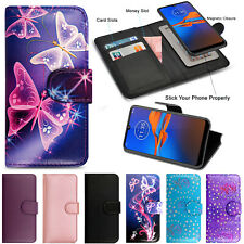 For Motorola Moto E6 Plus Play G8 Power Case Phone Wallet Leather Flip Book Covr