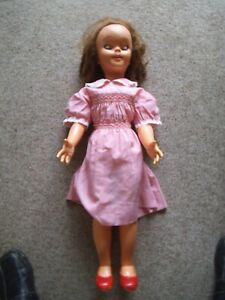 Vintage Walt Disney Pollyanna Doll, made by Semco circa 1960's.  30 inches tall,