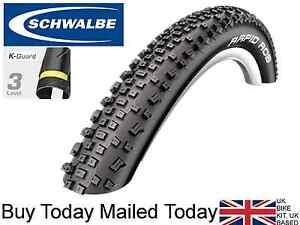 Schwalbe Rapid Rob 26 27.5 28 29 x 2.1 2.25 K-Guard Knobbly Mountain Bike Tyre