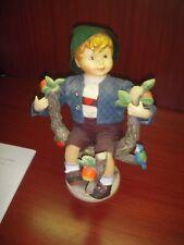 "Vintage Hummel Goebel W Germany Porcelain Figurine Apple Tree Boy 10-1/2"""