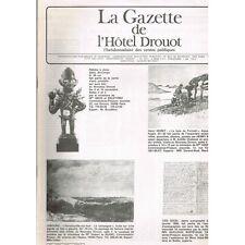 La GAZETTE de l'Hôtel DROUOT 1983 N°33 FÉTICHE à Clous du ZAÏRE Mobles des Indes