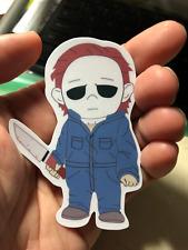 Michael Myers Halloween Chibi Laptop Sticker