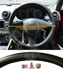 UNIVERSAL FAUX LEATHER CARBON FIBRE LOOK STEERING WHEEL COVER BLACK – Nissan 1