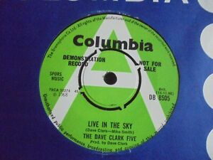 The Dave Clark Five - Live In The Sky 1968 UK 45 COLUMBIA DEMO