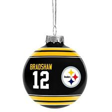 Pittsburgh Steelers NFLBradshaw Legends Christmas Holiday Glass Ball Ornament