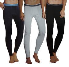 2 er Pack Herren lange Unterhose mit Eingriff Skiunterwäsche Unterwäsche Hose