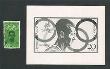 Foto federale-Essay 562 OLYMPIA 1968 alfiere RUNNER Olympics PROOF RARE!!! e83
