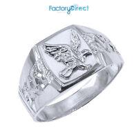 Men's Sterling Silver Eagle Ring